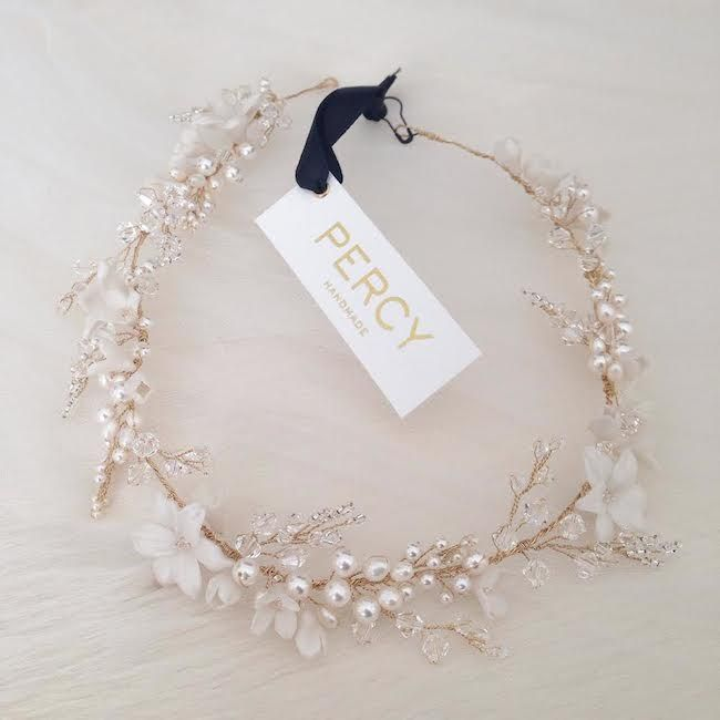 For the luxe lover, this bridal headband can be worn as a headband or across the forehead to capture a bohemian vibe.