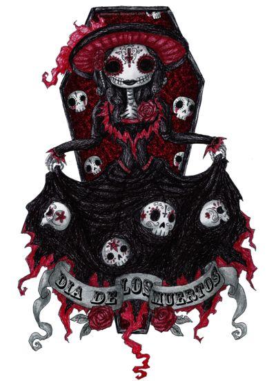 Image detail for -Dia de Los Muertos by *DemiseMAN on deviantART [ MexicanConnexionforTile.com ] #DayoftheDead #Talavera #Mexican