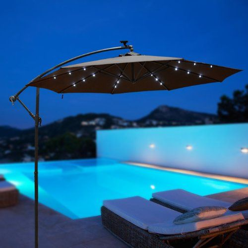 Led Umbrella Amazon: This One Has Lights! OUTT® Outdoor 10' Patio LED Hanging