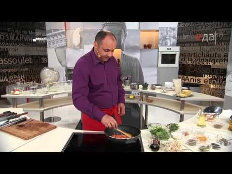 ▶ Кухня Китая и Таиланда. Лапша Чоу Мейн и рисовая лапша с креветками - YouTube