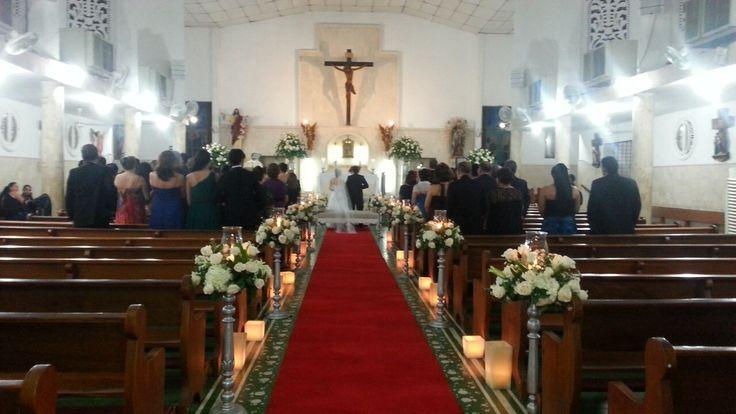 Montaje iglesia perpetuo Socorro Bocagrande Cartagena. Bodas yara del río