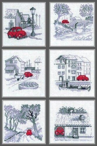 Вышивка История красной машинки