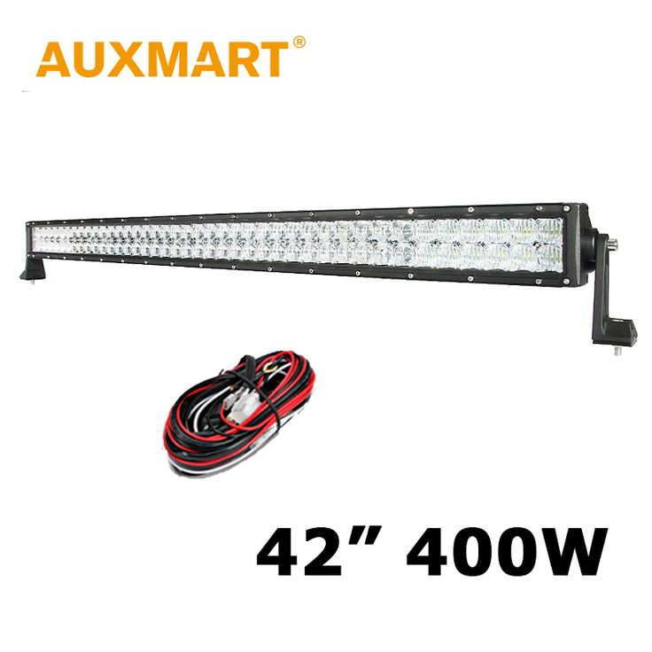 "==> [Free Shipping] Buy Best Auxmart 42"" 400W 5D LED Light Bar CREE Chips Straight LED Driving Work Light Combo Truck ATV SUV 4WD Pickup 4x4 Led Bar Offroad Online with LOWEST Price 