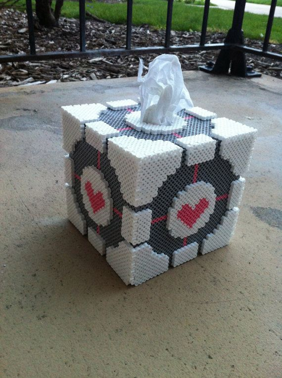 Custom 3D Companion Cube Tissue Box Holder by SDKD on Etsy, $48.00