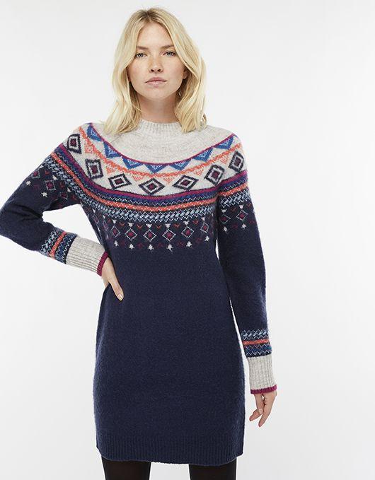 36b9530b4ac Melissa Multicoloured Fair Isle Jumper Dress
