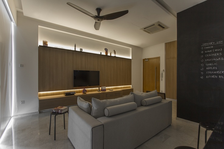the living room in 'movie mood'