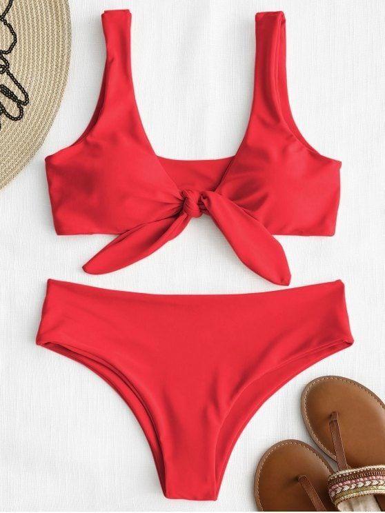 6887b6026252 Bikini Tanga anudada a tope scrunch   SwimsuitS   Trajes de baño ...