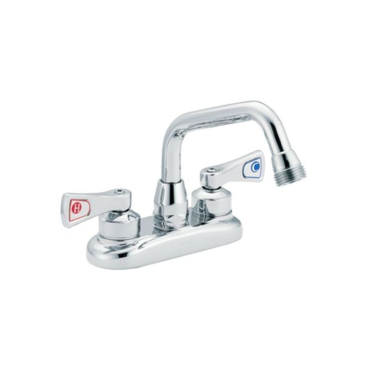 Moen 8277 Commercial Bar Faucet from the M-DURA Collection Chrome Faucet Bar Double Handle