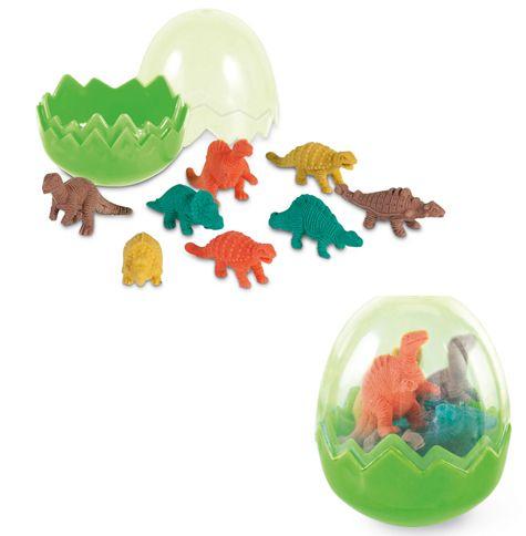Goma de borrar 8 dinosaurios en huevo [09-91928] - 0.50€ : Cosas43,