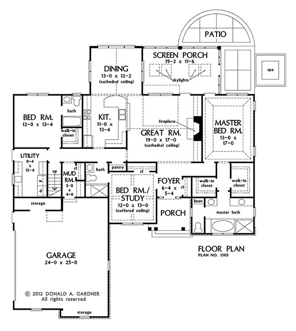 ranch floor plans with large kitchen ranch with single living space convenience 9192