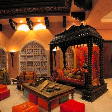 Traditional Indian Living Room Decor With Ethnic Furniture More
