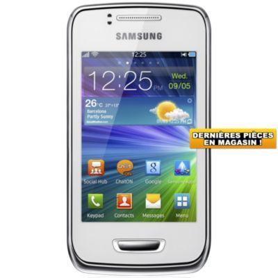 Téléphone portable sans abonnement SAMSUNG Wave Y pearl white