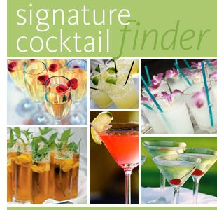 Click on what color or season to figure out your signature drink you want for your wedding