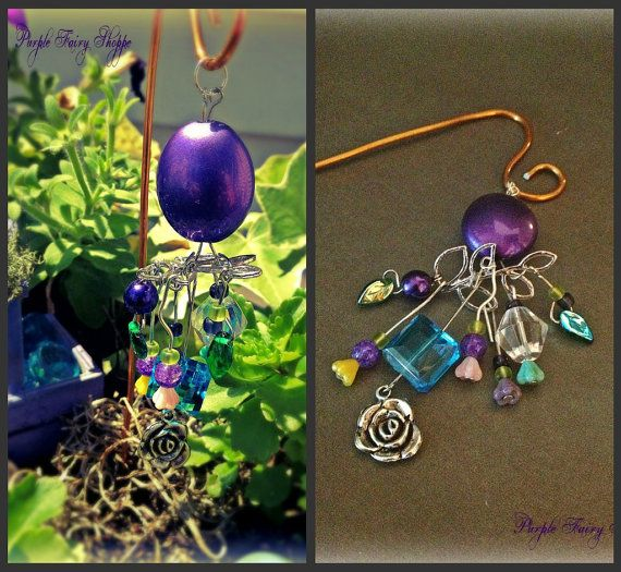 Fairy Garden Miniature Wind Chime Fairy Gardens by PurpleFairyShoppe, $16.99