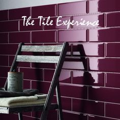 burgundy wall | Edge Bevel Wall Tile Burgundy (prugna) 100x300mm - Wall tiles and ...