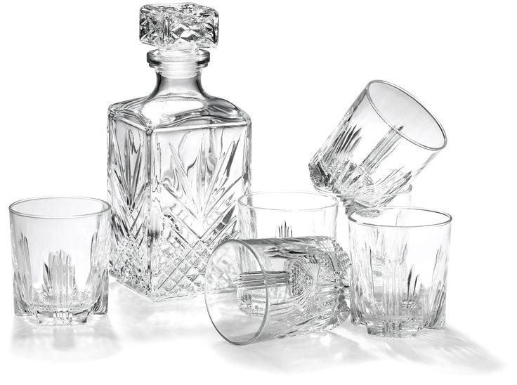 Amazon.com: Bormioli Rocco Selecta 7-Piece Whiskey Gift Set: Drinkware Sets: Kitchen & Dining