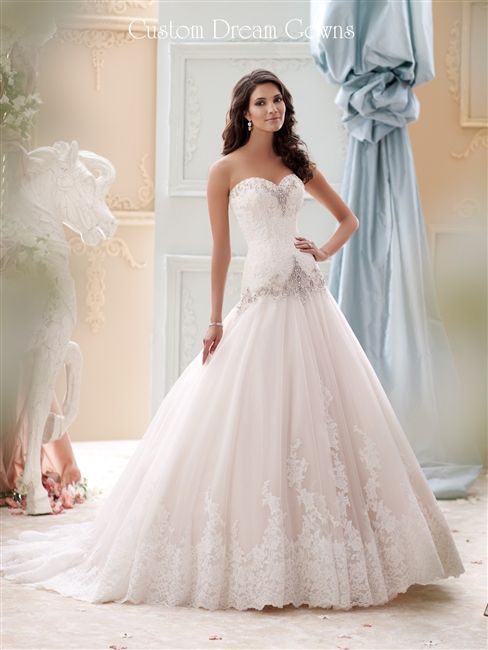 Custom dream gowns wedding dresses bridal gowns for Beautiful fitted wedding dresses