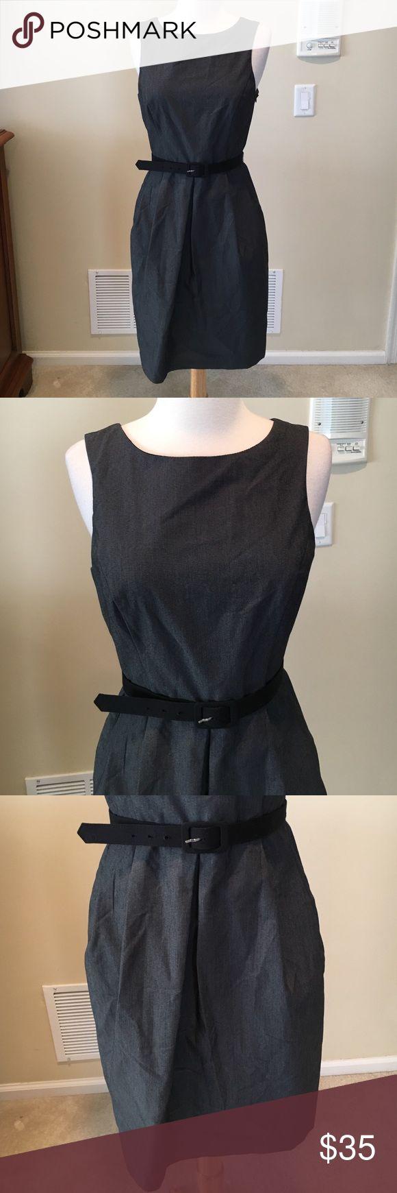 Eva Franco belted dress 🔴Excellent condition. 95% cotton 3% spandex and 2% polyester Eva Franco Dresses Midi
