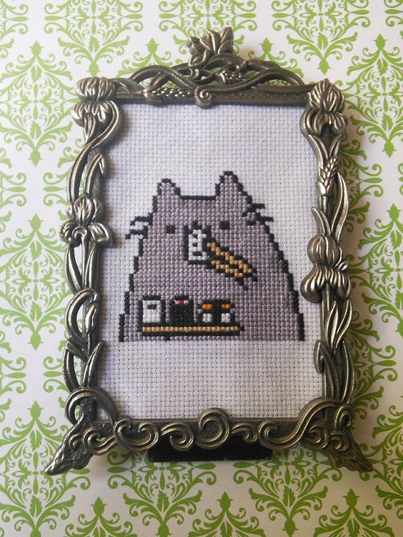 Susheen Pusheen Framed Cross Stitch