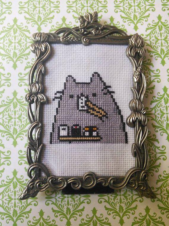 Susheen Pusheen Framed Cross Stitch