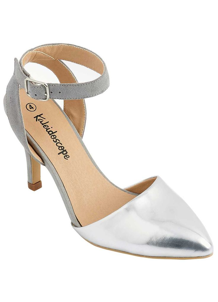 Two Part Metallic Court Shoes