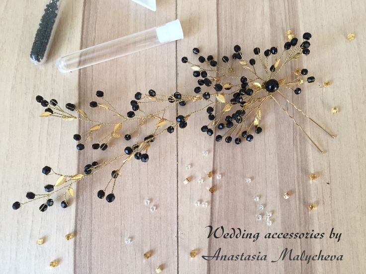Luxury hairpin made by Anastasia. Our materials: gold leaves http://www.livemaster.ru/search.php?vr=0&searchtype=1&search=purmur+%D0%B7%D0%BE%D0%BB%D0%BE%D1%82%D1%8B%D0%B5+%D0%BB%D0%B8%D1%81%D1%82, https://www.etsy.com/shop/PurrrMurrr?ref=hdr_shop_menu&search_query=gold+leaves. Thank you, Anastasia