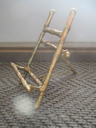 Vtg Mid-Century BRASS BAMBOO Plate Holder Easel Stand Rack 4.5\\. Vtg Mid Century BRASS BAMBOO Plate Holder Easel Stand Rack 4 5 Tall & Wonderful Bamboo Plate Stand Images - Best Image Engine - maxledpro.com