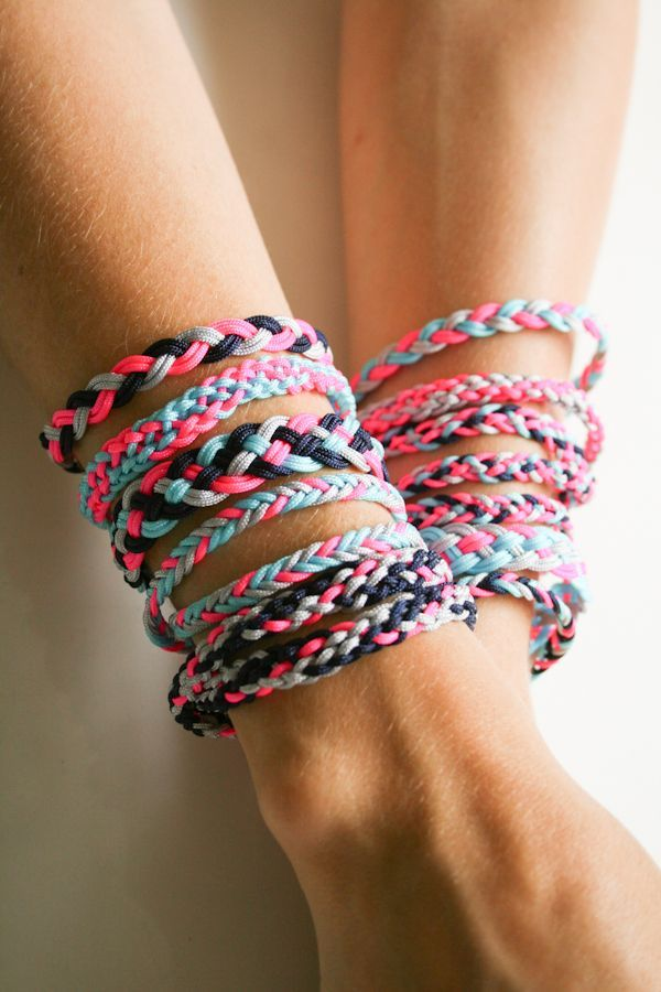 Molly's Sketchbook: Braided FriendshipBracelets - The Purl Bee - Knitting Crochet Sewing Embroidery Crafts Patterns and Ideas!