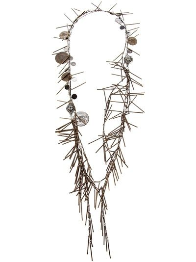 Lanvin coins and tassel necklace. Available from Changing Room on Far Fetch.