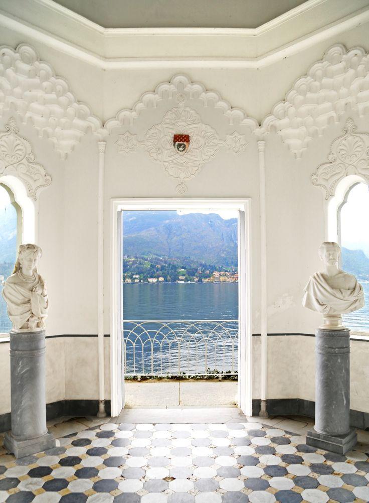 On Lake Como in Italy, Vella Melzi's gazebo offers amazing views.