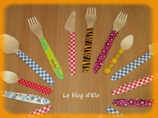 La création d'ELO ne manque pas avec ces couverts en bois uniques par leur décoration. Couverts disponibles ici : http://www.laboutiquedujetable.fr/fourchette-jetable/226-fourchette-bois.html