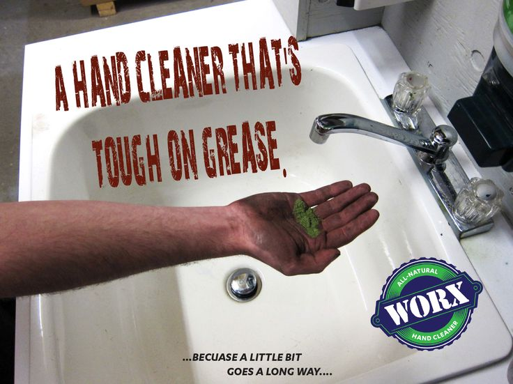 WORX All-Natural Hand Cleaner: Proven industry performance since 1994 100% biodegradable  lifts stains without damaging, drying or cracking skin
