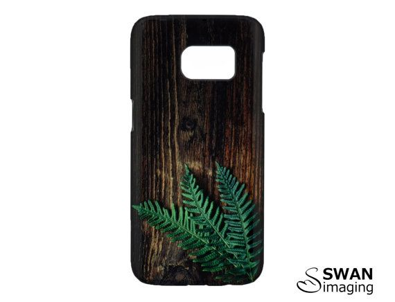 Fern Phone Case ~ Fern leaf on dark wood timber