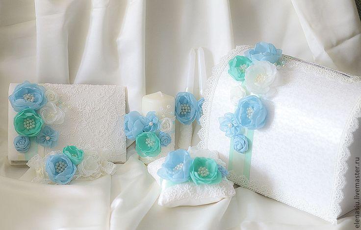 Купить Оформление бутылок с цветками Жених и Невеста - мятный, мятная свадьба, на свадьбу, купить, заказать