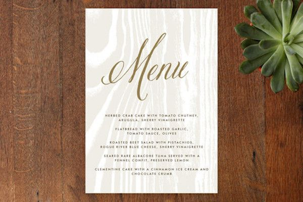 The Big Sur Menu Card On Minted Com Featuring The Belluccia Calligraphy Font Available At Www