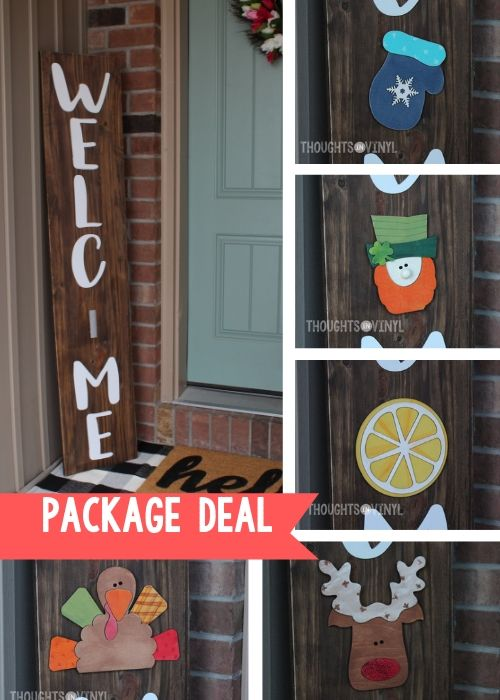 front porch sign welcome letters package deal