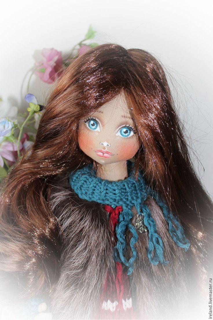 """Купить Текстильная кукла """"Инга"""" - резерв - комбинированный, яркая, новогодний подарок, куколка, куколка в подарок"""