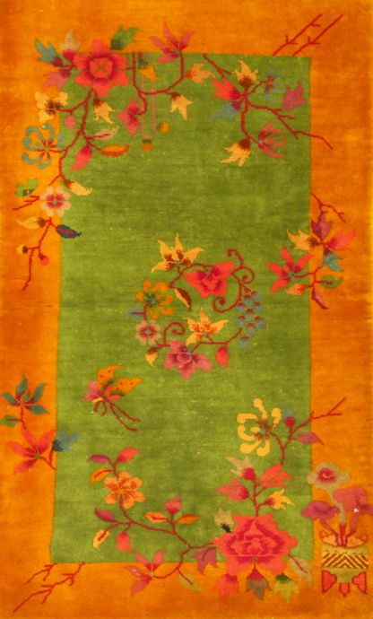 Chinese Art Deco Rug  Would love one like this for the dining room