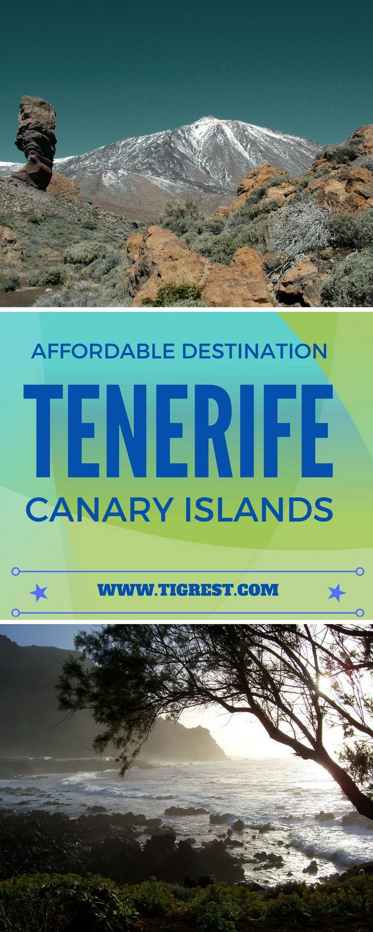 Tenerife (Canary Islands) is a great holiday destination with year round sunny weather. It's popular among tourists and has a lot to offer: