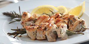 Marinated Chicken with Rosemary Kebabs