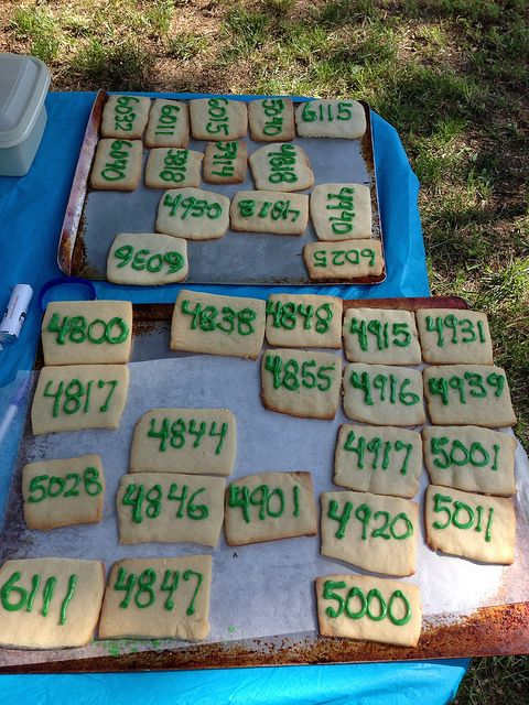 House number cookies for a neighborhood party