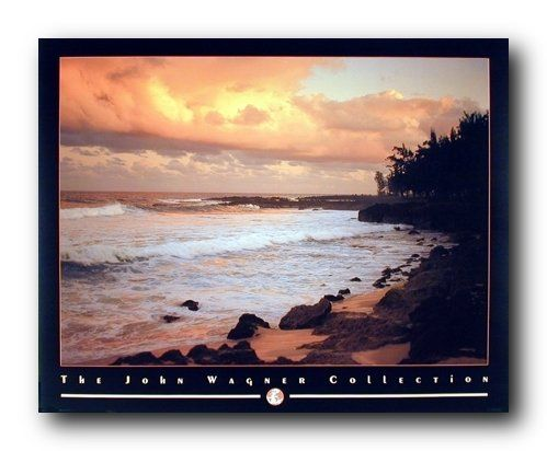 Your living room will brighten up with the presence of this amazing ocean beach scenery art print poster. This poster captures the image of beautiful coastal sunset on ocean beach will surely catch lot of attention. This poster is a combination of style and natural beauty which will add charm and sense of joy to your home. It goes with all décor style and ensures durable quality with high degree of color accuracy.
