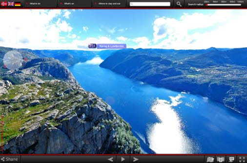 Stunning 360-degree panorama view over Preikestolen and the Lysefjord