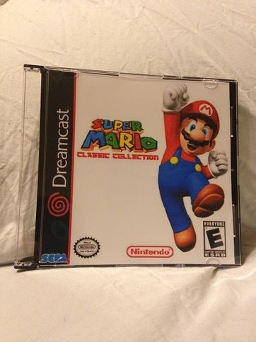Super+Mario+Bros+Classic+Collection+for+the+Sega+Dreamcast.+This+game+has+been+ported+onto+the+Dreamcast.+It+features+all+the+original+NES+games,+as+well+as+fan+made+versions+of+these+games.+It+comes+with+a+front+insert+in+a+slimline+jewel+case.+This+game+will+work+on+a+standard+Sega+Dreamcast.+N...