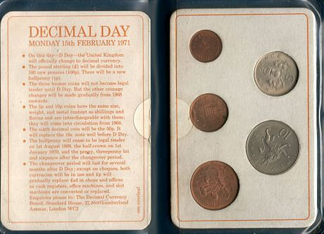 On the 15th of February 1971 Britain went Decimal. I remember going to the sweet shop with old money to get new change