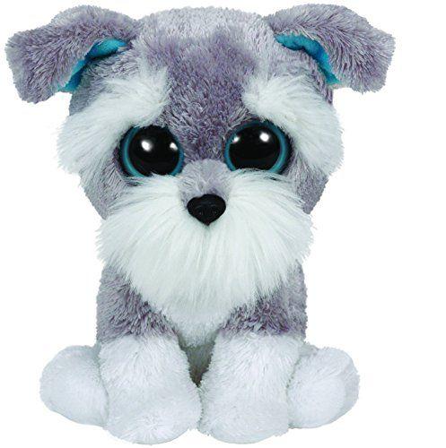 WHISKERS - grey schnauzer dog medium Beanie Boo