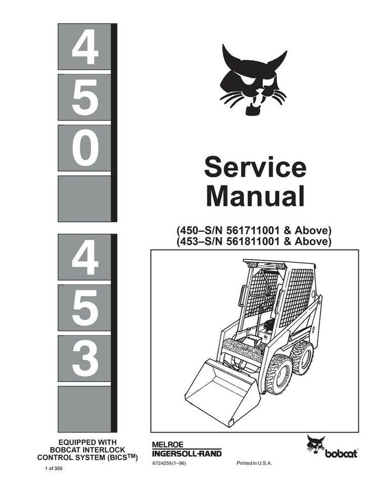 (Sponsored)(eBay) New Bobcat 450, 453 Skid Steer Loader