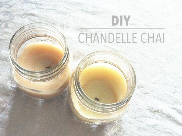 DIY - Chandelle parfumée aux épices chai   Bulles + Bottillons