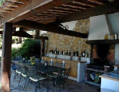 Outdoor kitchen cuisine d t french home pinterest for Idee amenagement cuisine d ete