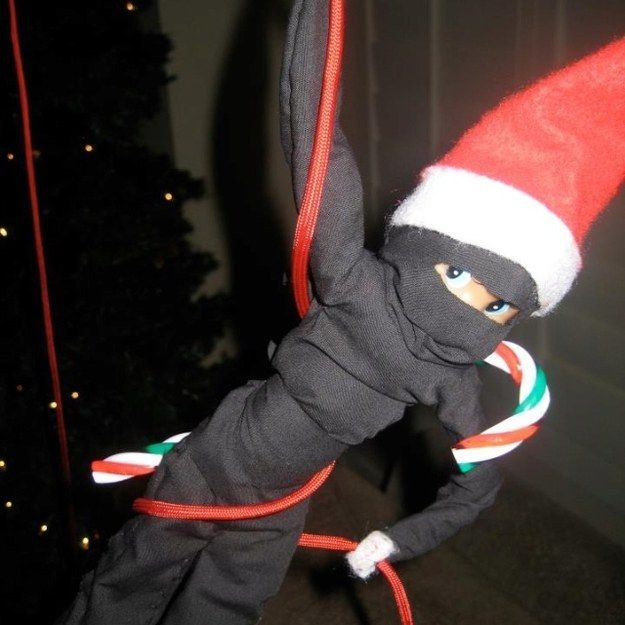 The Ninja | 43 Awesome Elf On The Shelf Ideas To Steal This Christmas